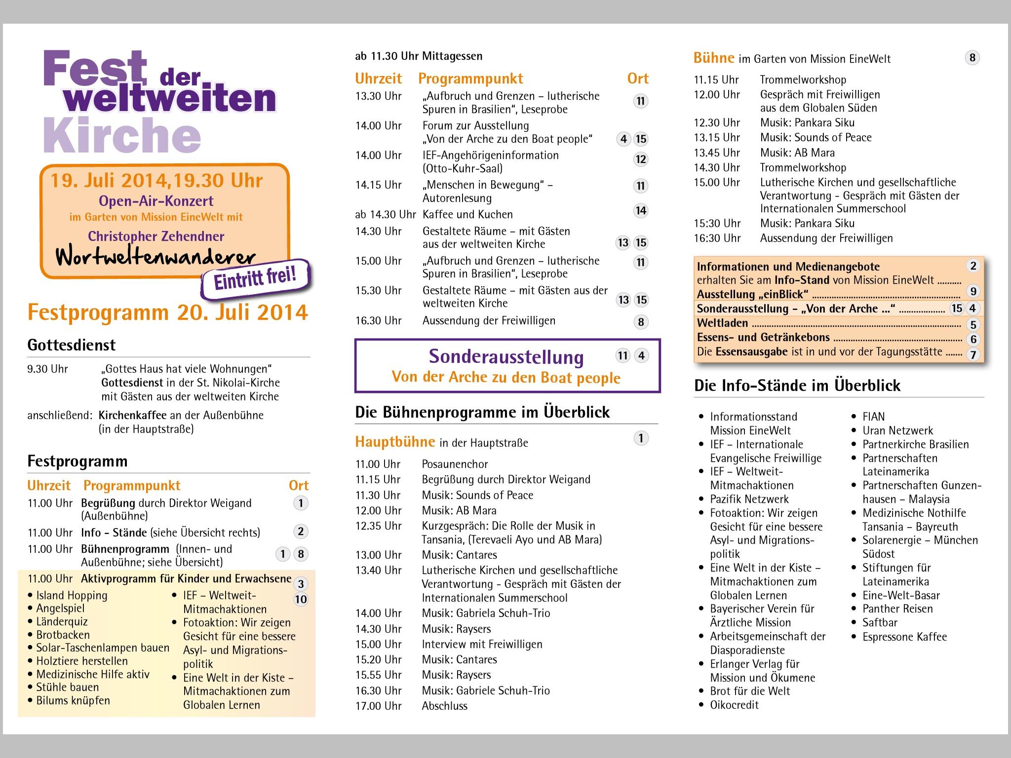 Programm 20.07.2014